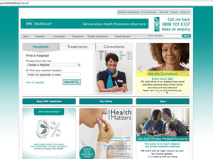 BMI Healthcare – Home Page Redesign